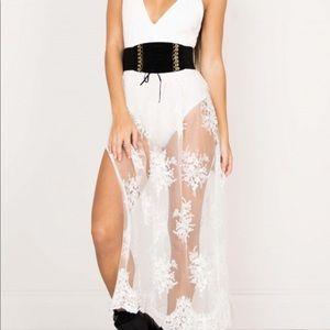 Showpo White Lace Dress
